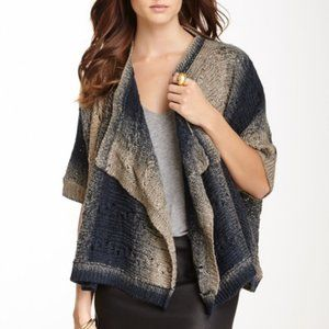 Nostalgia Open Sweater Knit Ombre Cardigan Large